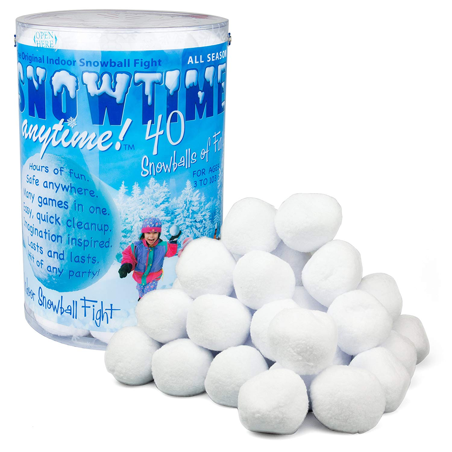 Indoor Snowball Fight SNOWTIME ANYTIME