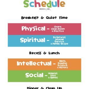homeschool schedule